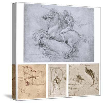 The Sforza Monument, C1488-1493-Leonardo da Vinci-Stretched Canvas Print