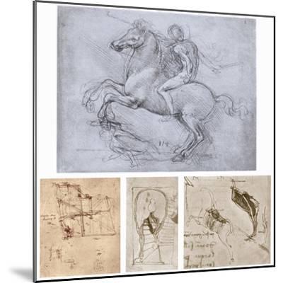 The Sforza Monument, C1488-1493-Leonardo da Vinci-Mounted Giclee Print