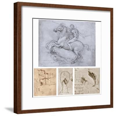 The Sforza Monument, C1488-1493-Leonardo da Vinci-Framed Giclee Print