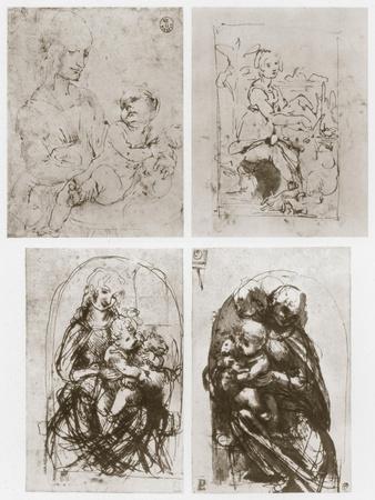 Madonna, 15th Century-Leonardo da Vinci-Framed Giclee Print