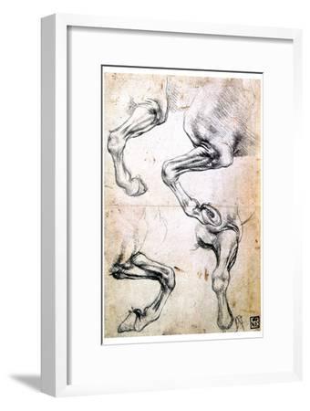 Four Studies of Horses' Legs, C1500-Leonardo da Vinci-Framed Giclee Print