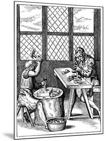 Dice Maker's Workshop, 16th Century-Jost Amman-Mounted Giclee Print