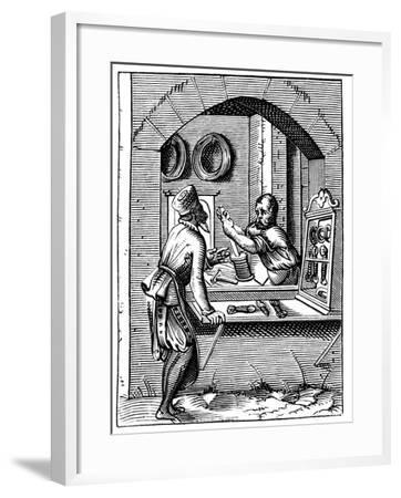Wire Worker, 16th Century-Jost Amman-Framed Giclee Print