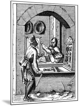 Wire Worker, 16th Century-Jost Amman-Mounted Giclee Print