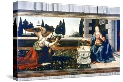 The Annunciation, 1472-1475-Leonardo da Vinci-Stretched Canvas Print