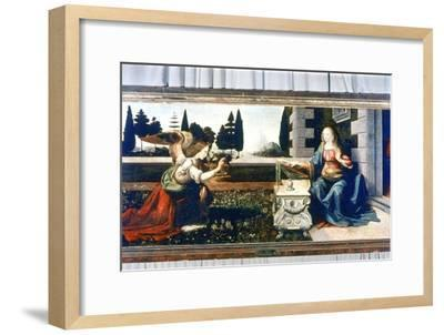 The Annunciation, 1472-1475-Leonardo da Vinci-Framed Giclee Print