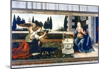 The Annunciation, 1472-1475-Leonardo da Vinci-Mounted Giclee Print