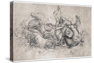 Neptune, C1504-Leonardo da Vinci-Stretched Canvas Print