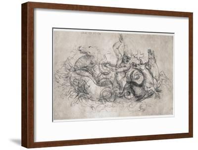 Neptune, C1504-Leonardo da Vinci-Framed Premium Giclee Print