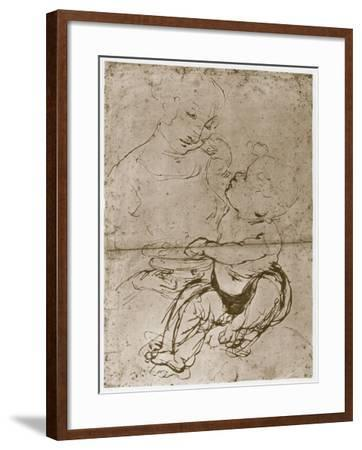 Madonna with the Fruit-Plate, 1480-82-Leonardo da Vinci-Framed Giclee Print