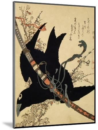 The Little Raven. Minamoto Clan Sword, C1823-Katsushika Hokusai-Mounted Giclee Print