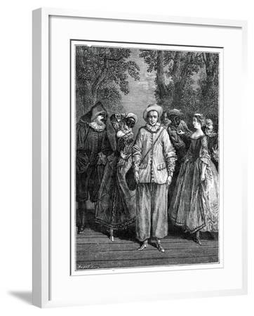 The Italian Theatre- Lancret-Framed Giclee Print