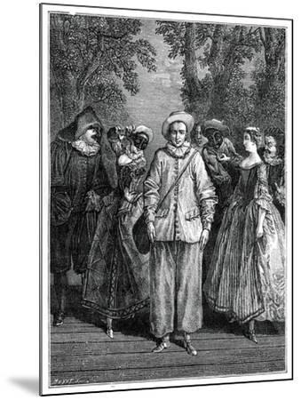 The Italian Theatre- Lancret-Mounted Giclee Print