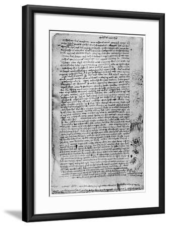 Description of the Great Flood, Late 15th Century or Early 16th Century-Leonardo da Vinci-Framed Giclee Print