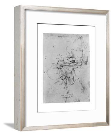 Study in Proportion of a Horse's Leg, Late 15th or Early 16th Century-Leonardo da Vinci-Framed Premium Giclee Print