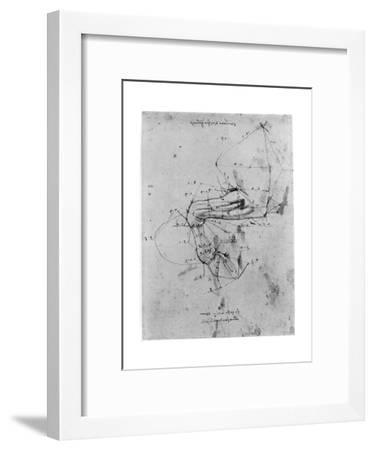 Study in Proportion of a Horse's Leg, Late 15th or Early 16th Century-Leonardo da Vinci-Framed Giclee Print