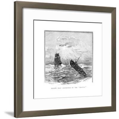 Captain Bligh's Boat Abandoned by the 'Bounty, 1789-JR Ashton-Framed Giclee Print
