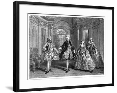 The Glorious Comedy of Destouches- Lancret-Framed Giclee Print