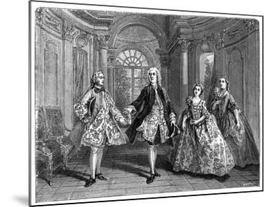 The Glorious Comedy of Destouches- Lancret-Mounted Giclee Print
