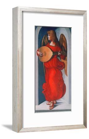 An Angel in Red with a Lute, 1490-1499-Leonardo da Vinci-Framed Giclee Print