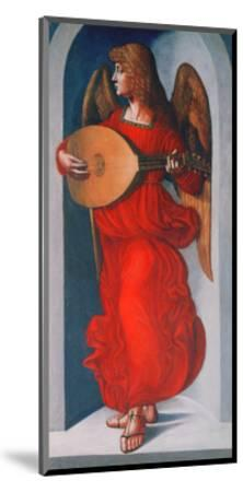 An Angel in Red with a Lute, 1490-1499-Leonardo da Vinci-Mounted Giclee Print