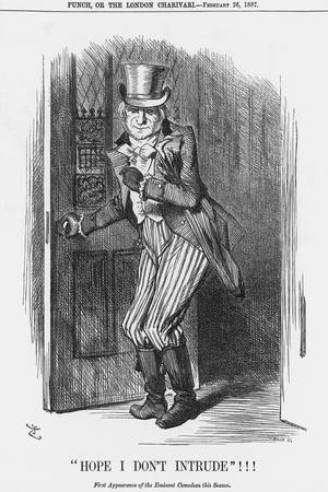 Hope I Don't Intrude!!!, 1887-Joseph Swain-Stretched Canvas Print