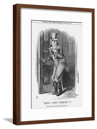 Hope I Don't Intrude!!!, 1887-Joseph Swain-Framed Giclee Print