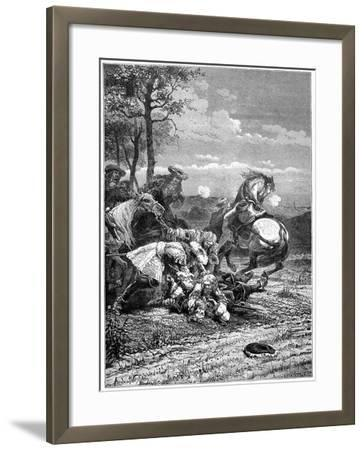 Death of Turenne, Henri De La Tour D'Auvergne, Marshal of France, 1898- Laplante-Framed Giclee Print