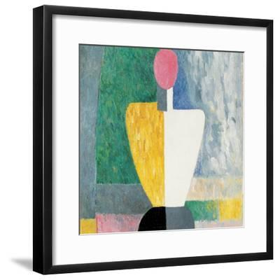 Torso (Figure with Pink Fac), 1928-1932-Kazimir Malevich-Framed Giclee Print