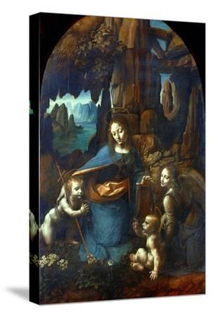 The Virgin of the Rocks, 1491-1519-Leonardo da Vinci-Stretched Canvas Print