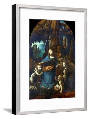 The Virgin of the Rocks, 1491-1519-Leonardo da Vinci-Framed Giclee Print