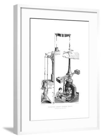 Boulton's Screw Coining Press, as Used in the Royal Mint, 1866-Joseph Wilson Lowry-Framed Giclee Print