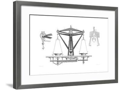 Improved Balance (To Weigh 2000 Ounces), 1866-Joseph Wilson Lowry-Framed Giclee Print