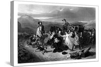 The Murder of Archbishop Sharpe, 1860-K Bourne-Stretched Canvas Print