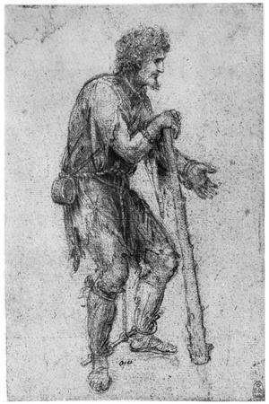 Costume Study, Late 15th or Early 16th Century-Leonardo da Vinci-Stretched Canvas Print