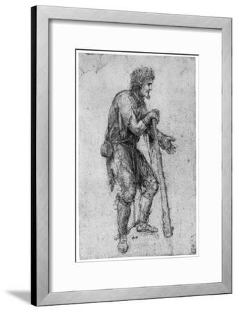 Costume Study, Late 15th or Early 16th Century-Leonardo da Vinci-Framed Giclee Print