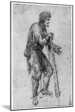Costume Study, Late 15th or Early 16th Century-Leonardo da Vinci-Mounted Giclee Print
