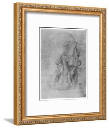 Study of Judas for the Last Supper, C1495-Leonardo da Vinci-Framed Giclee Print