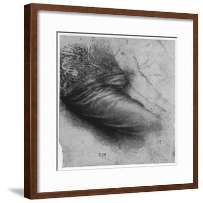 Study of a Garment for St Anne, 1503-1517-Leonardo da Vinci-Framed Giclee Print