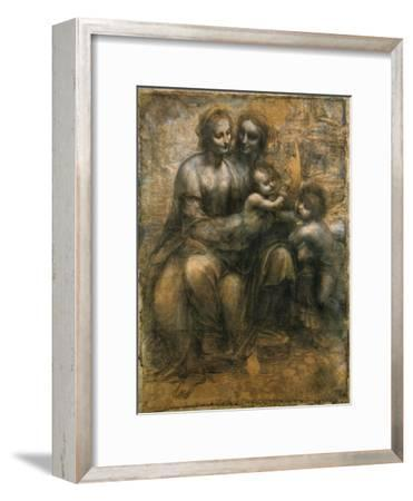 The Virgin and Child with Saint Anne and Saint John the Baptist, C1500-Leonardo da Vinci-Framed Giclee Print