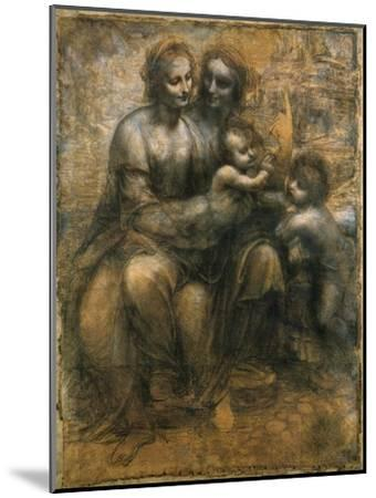 The Virgin and Child with Saint Anne and Saint John the Baptist, C1500-Leonardo da Vinci-Mounted Giclee Print