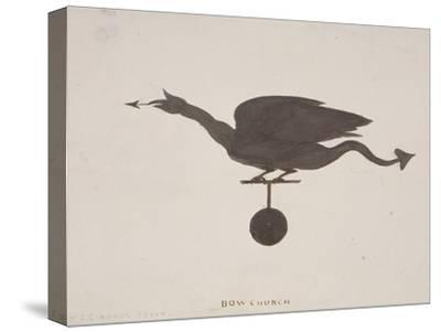 Weather Vane from St Mary-Le-Bow, London, C1850-JS Gardener-Stretched Canvas Print