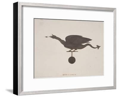 Weather Vane from St Mary-Le-Bow, London, C1850-JS Gardener-Framed Giclee Print