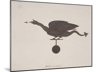 Weather Vane from St Mary-Le-Bow, London, C1850-JS Gardener-Mounted Giclee Print