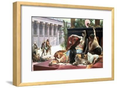 Cleopatra Testing Poisons on Those Condemned to Death, Late 19th Century-Lawrence Alma-Tadema-Framed Giclee Print