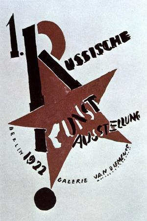 Cover Design for the Catalogue of the Exhibition of Russian Art, Berlin, 1922-Lazar Markovich Lissitzky-Framed Giclee Print