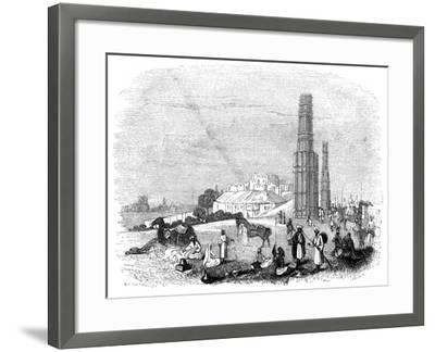 Fortress of Ghazni, with the Two Minars, India, 1847- Kirchner-Framed Giclee Print