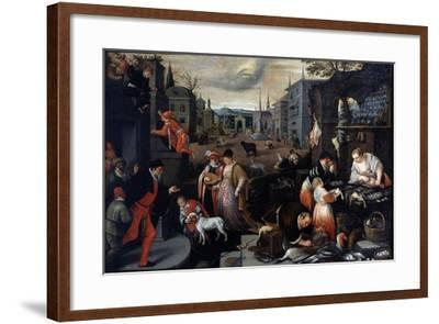 February (From the Series the Seasons), Late 16th or Early 17th Century-Leandro Bassano-Framed Giclee Print