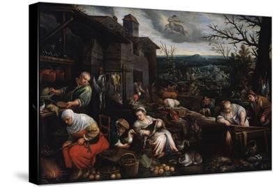 November' (From the Series 'The Seasons), Late 16th or Early 17th Century-Leandro Bassano-Stretched Canvas Print