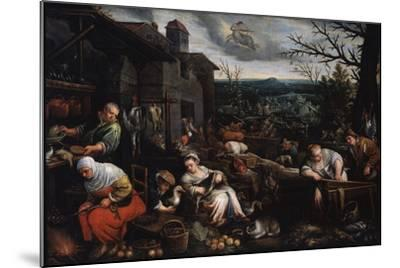 November' (From the Series 'The Seasons), Late 16th or Early 17th Century-Leandro Bassano-Mounted Giclee Print